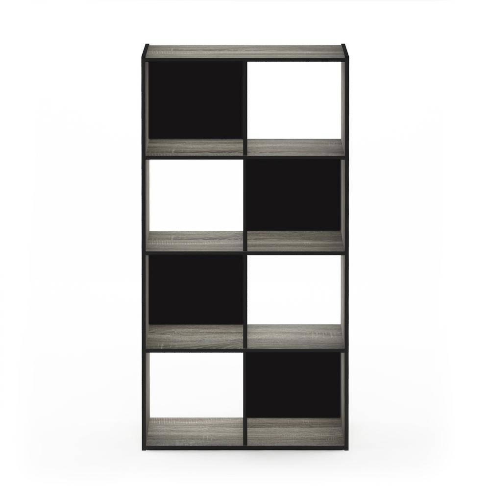 Pelli 47.72 in. French Oak Gray Wood 8-shelf Cube Bookcase with Open Back