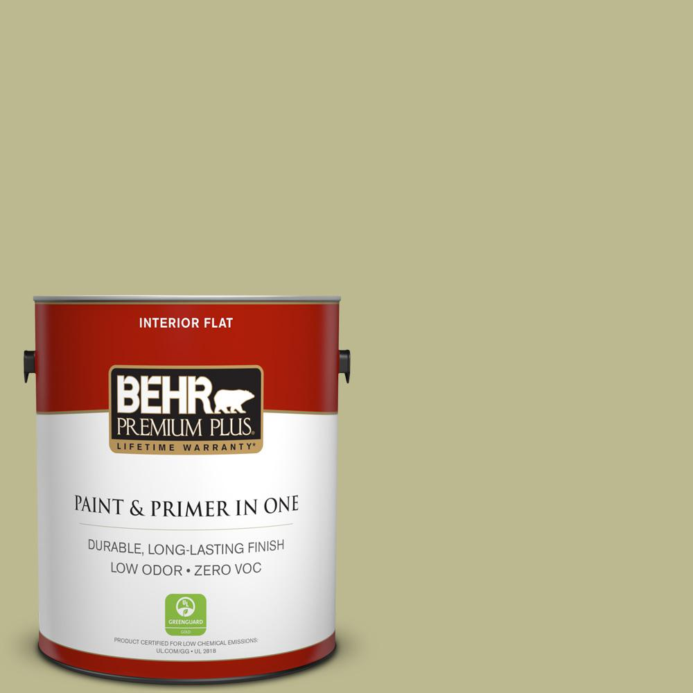 BEHR Premium Plus 1-gal. #S340-4 Back to Nature Flat Interior Paint