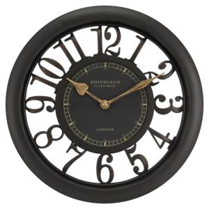 Equity by La Crosse 11-1/2 inch Brown Floating Dial Analog Wall Clock by Equity by La Crosse