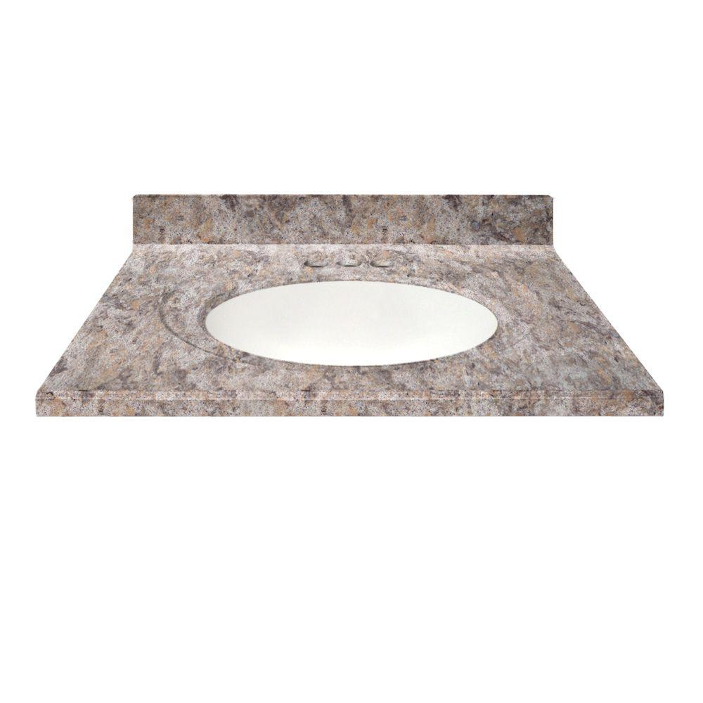 Us Marble 49 In Cultured Granite Vanity Top In Fawn Color