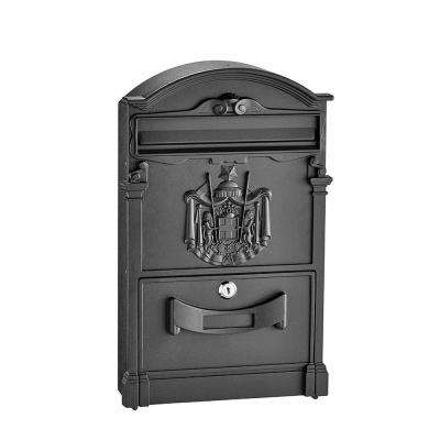 Black Steel Old Europe Style Mailbox