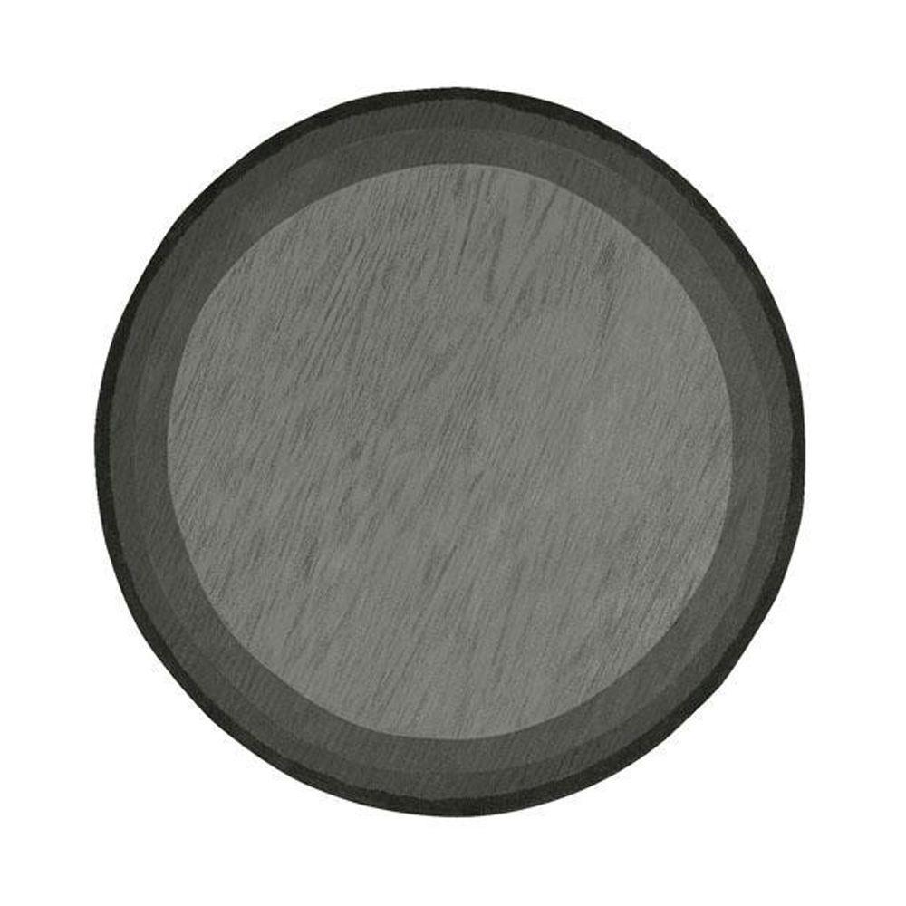 Karolus Gray/Black 8 ft. Round Area Rug