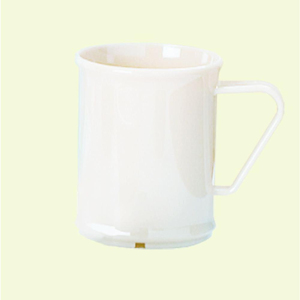 9.6 oz. Polycarbonate Coffee Mug in White (Case of 48)