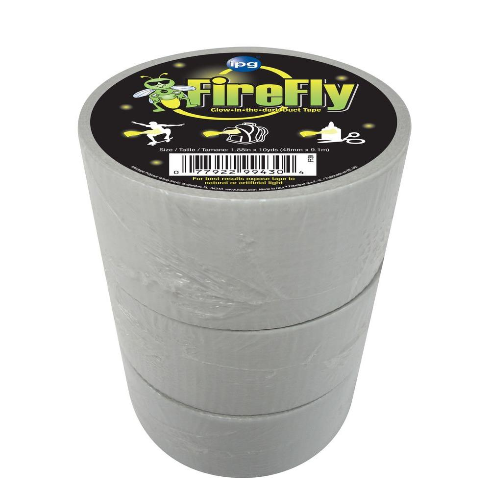 Intertape Polymer Group 2 in. x 10 yds. Firefly Glow in the Dark Duct Tape (3-Pack)-DISCONTINUED