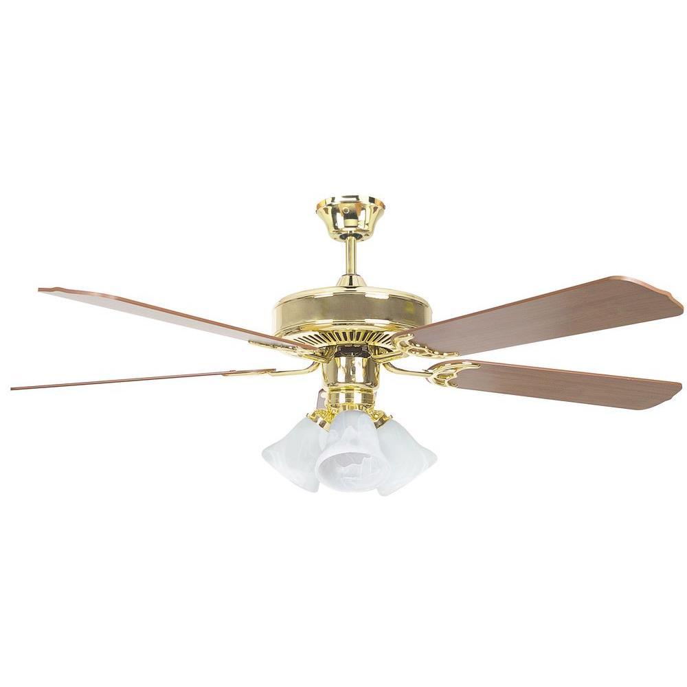 Radionic Hi Tech Tutor 52 In. Polished Brass Ceiling Fan