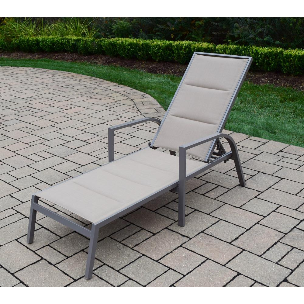 remarkable outdoor chaise lounge   Padded Sling Aluminum Patio Chaise Lounge-HD3731-L-CP ...