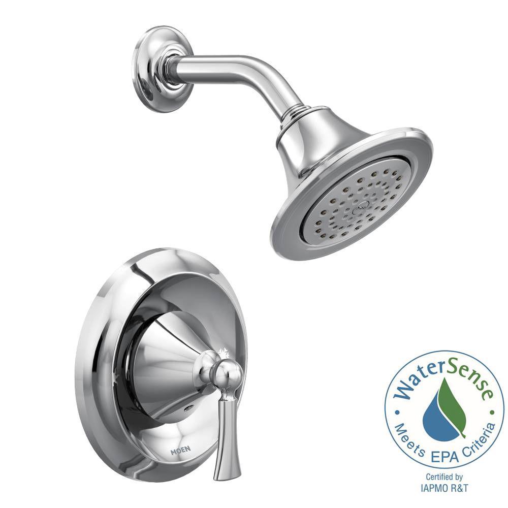 MOEN Wynford Single-Handle 1-Spray Posi-Temp Shower Faucet Trim Kit ...