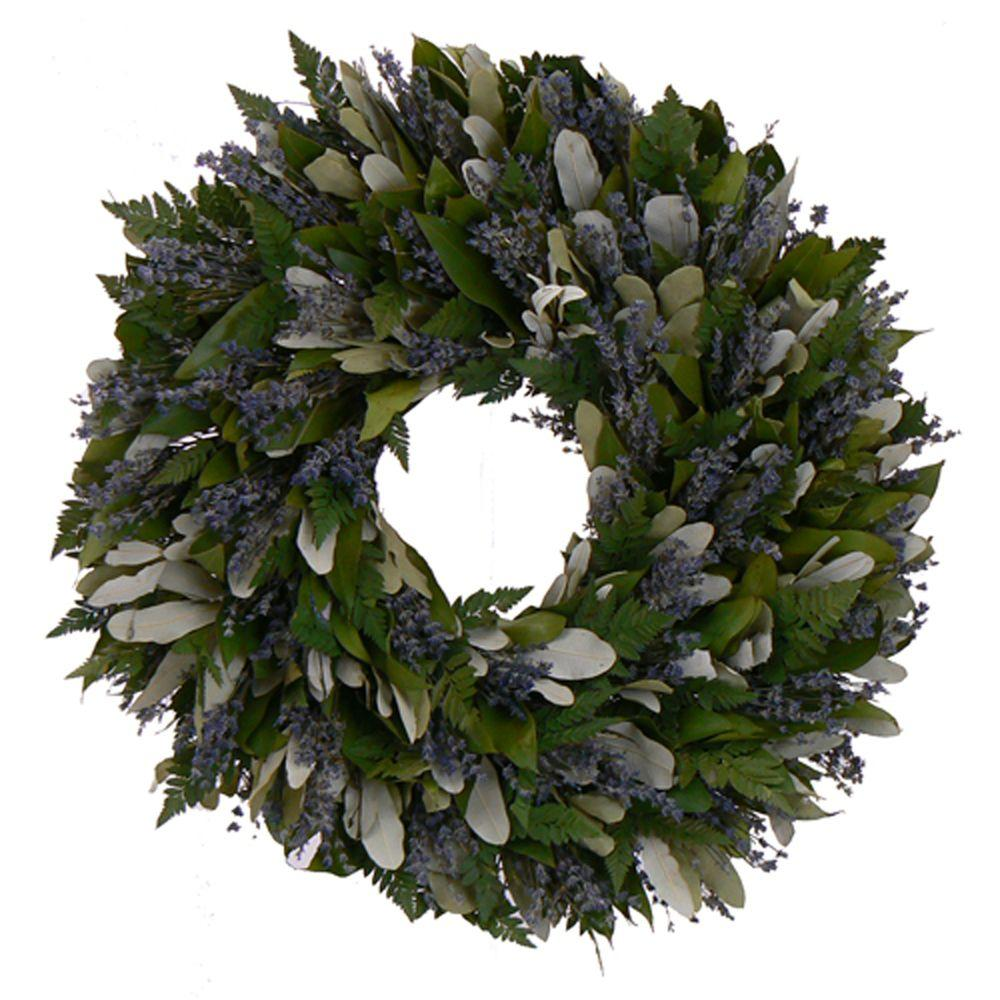 The Christmas Tree Company Enchanted Garden 22 in. Dried Floral Wreath-DISCONTINUED