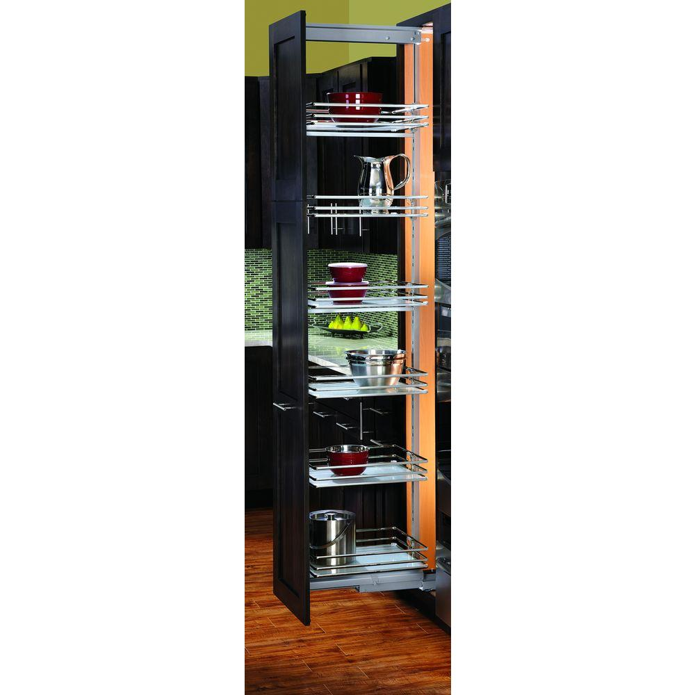 Rev-A-Shelf Premiere14-3/4 in. Width Medium Glass Pull-Out Pantry-DISCONTINUED