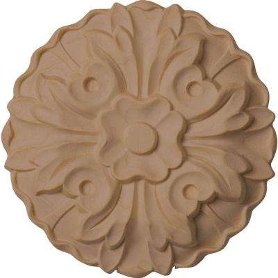 5/8 in. x 3-5/8 in. x 3-5/8 in. Unfinished Wood Cherry Kent Rosette