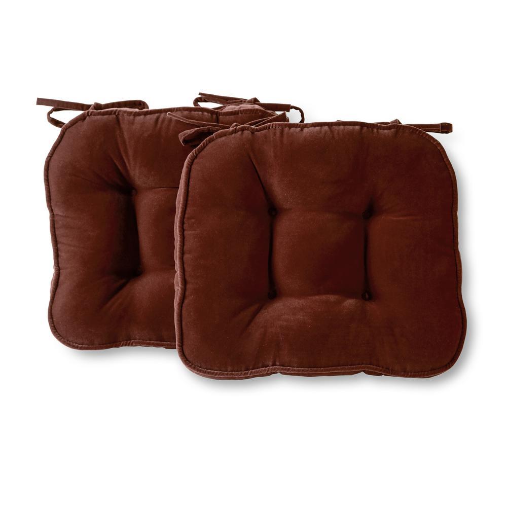 Hyatt Burgundy Microfiber Chair Pad (Set of 2)