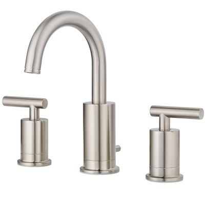 Contempra 8 in. Widespread 2-Handle Bathroom Faucet in Brushed Nickel