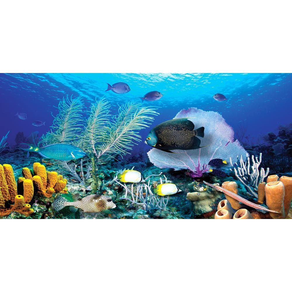 54 in. x 27 in. Ocean Reef Wall Mural