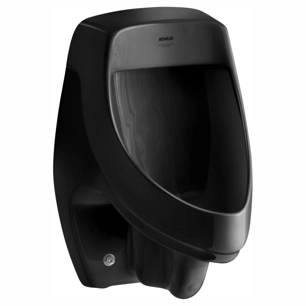 KOHLER Dexter 1.0 GPF Urinal with Rear Spud in Black Black