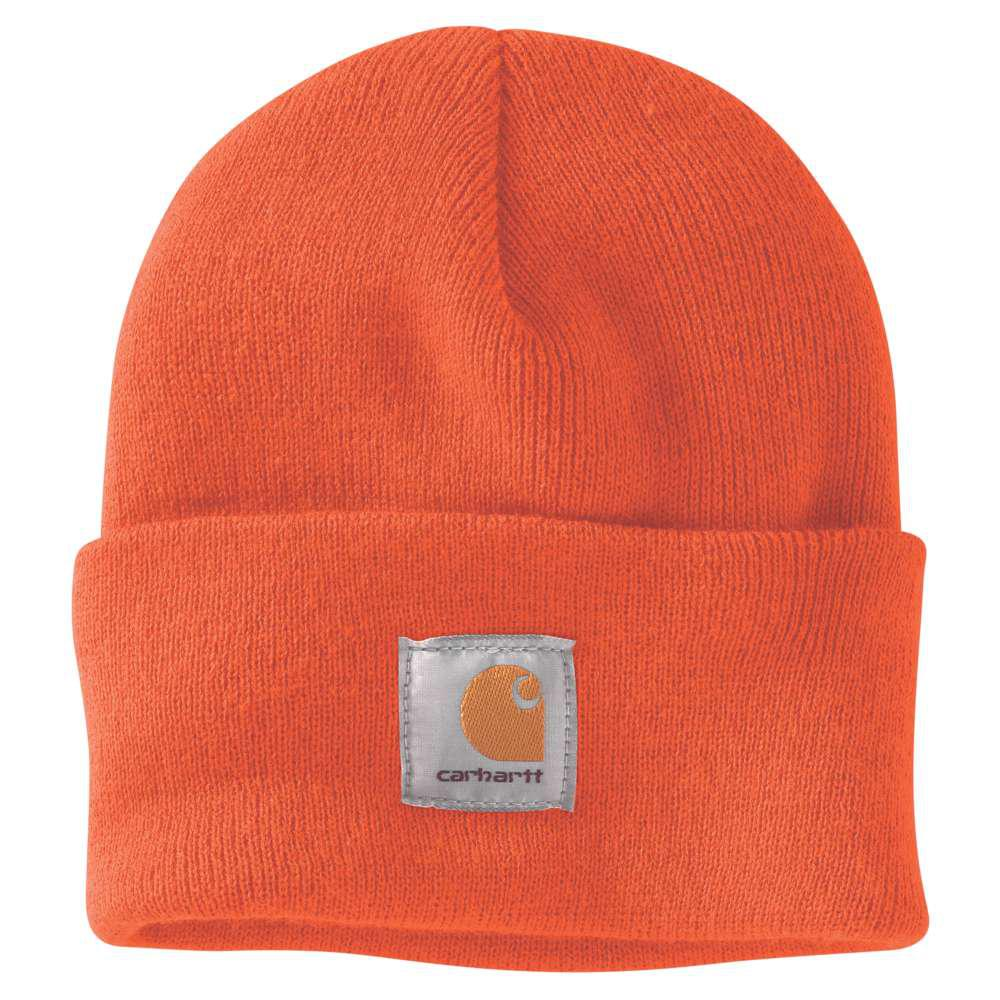 Carhartt Men s OFA Brite Orange Acrylic Hat Headwear-A18-BOG - The ... 87947fc2901