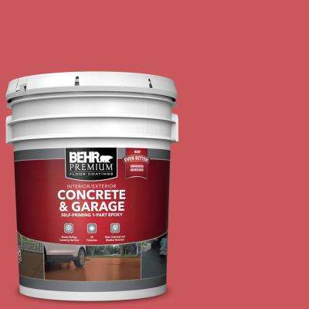 5 gal. #P160-5 Pinkadelic Self-Priming 1-Part Epoxy Satin Interior/Exterior Concrete and Garage Floor Paint
