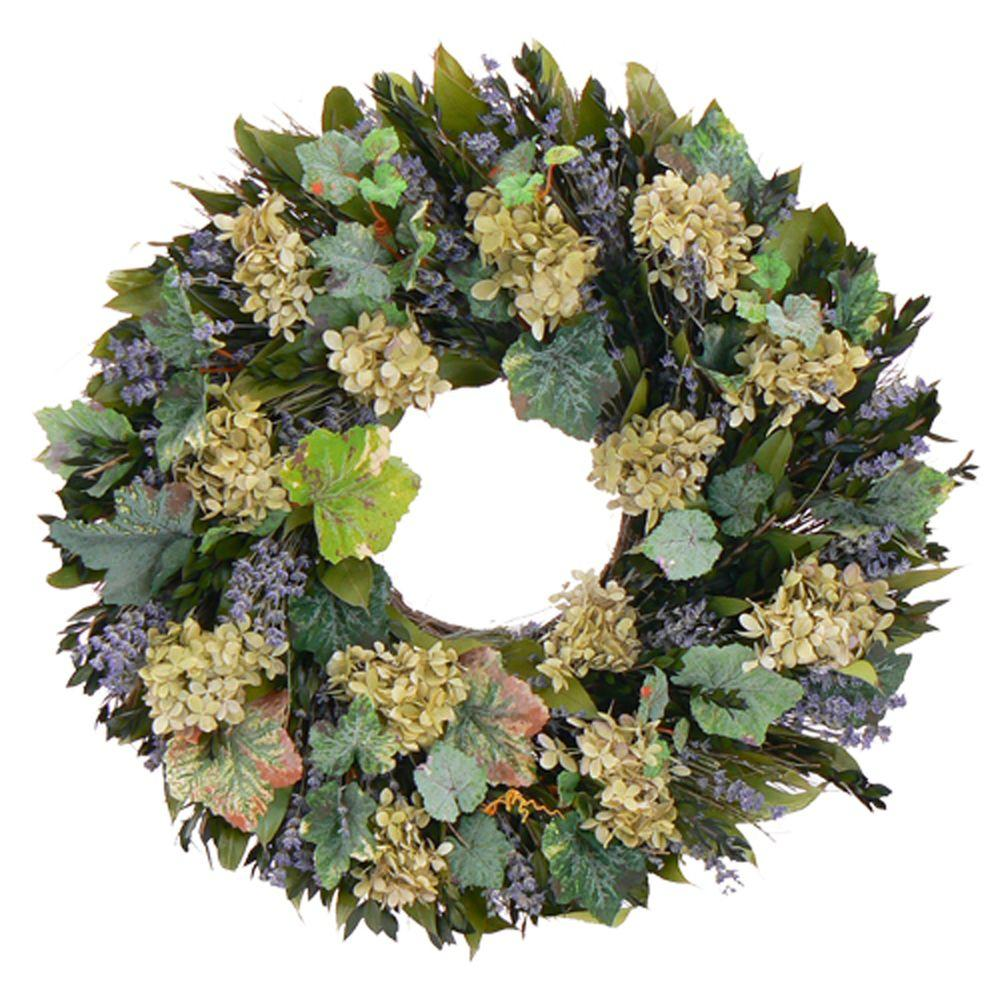 The Christmas Tree Company Vineyard Dreams 22 in. Dried Floral Wreath-DISCONTINUED
