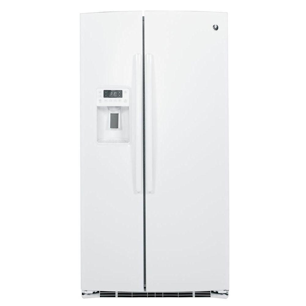 GE Profile 25.9 cu. ft. Side by Side Refrigerator in White