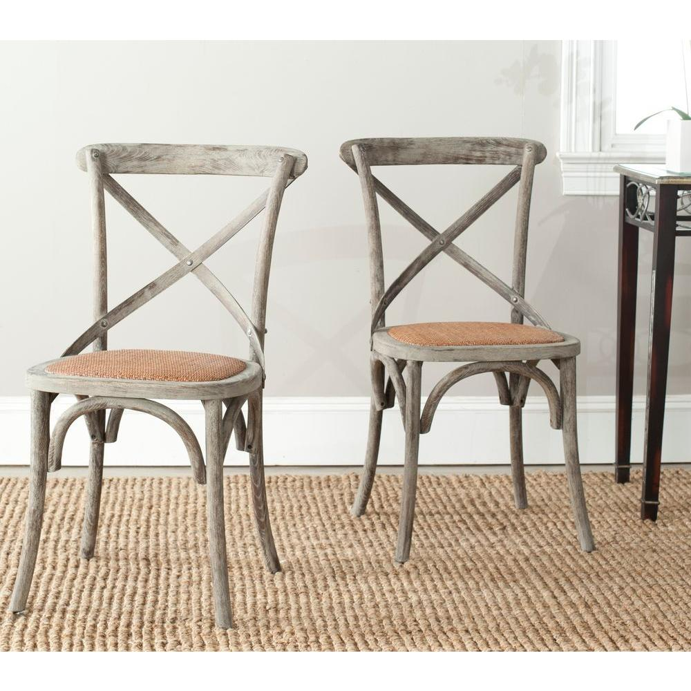 Safavieh Franklin Distressed Colonial Walnut X Back Dining Chair (Set Of 2)