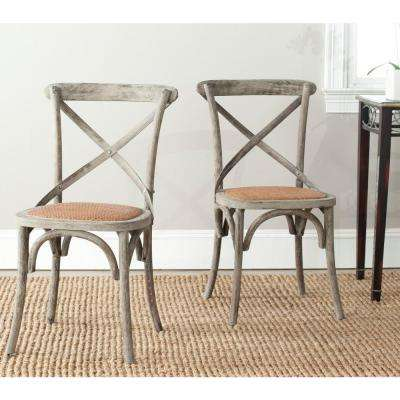Franklin Distressed Colonial Walnut X-Back Dining Chair (Set of 2)