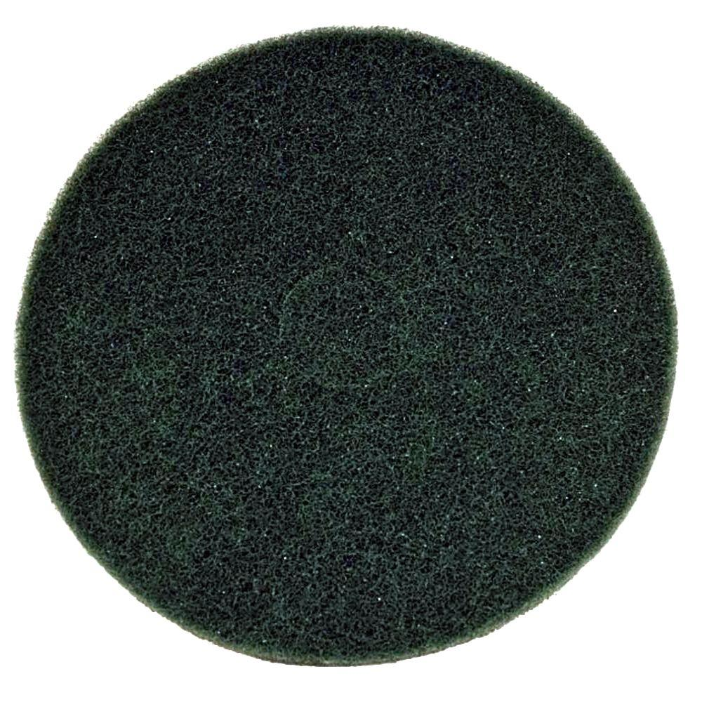 17 in. Non-Woven Green Buffer Pad (5-Pack)