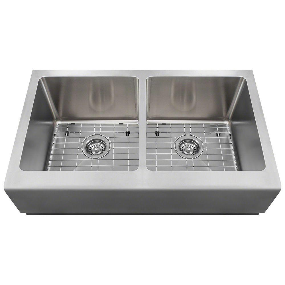 Polaris Sinks Farmhouse Apron Front Stainless Steel 33 in. Single ...