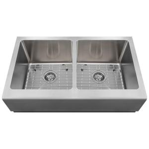 Farmhouse Apron Front Stainless Steel 33 in. Double Bowl Kitchen Sink Kit