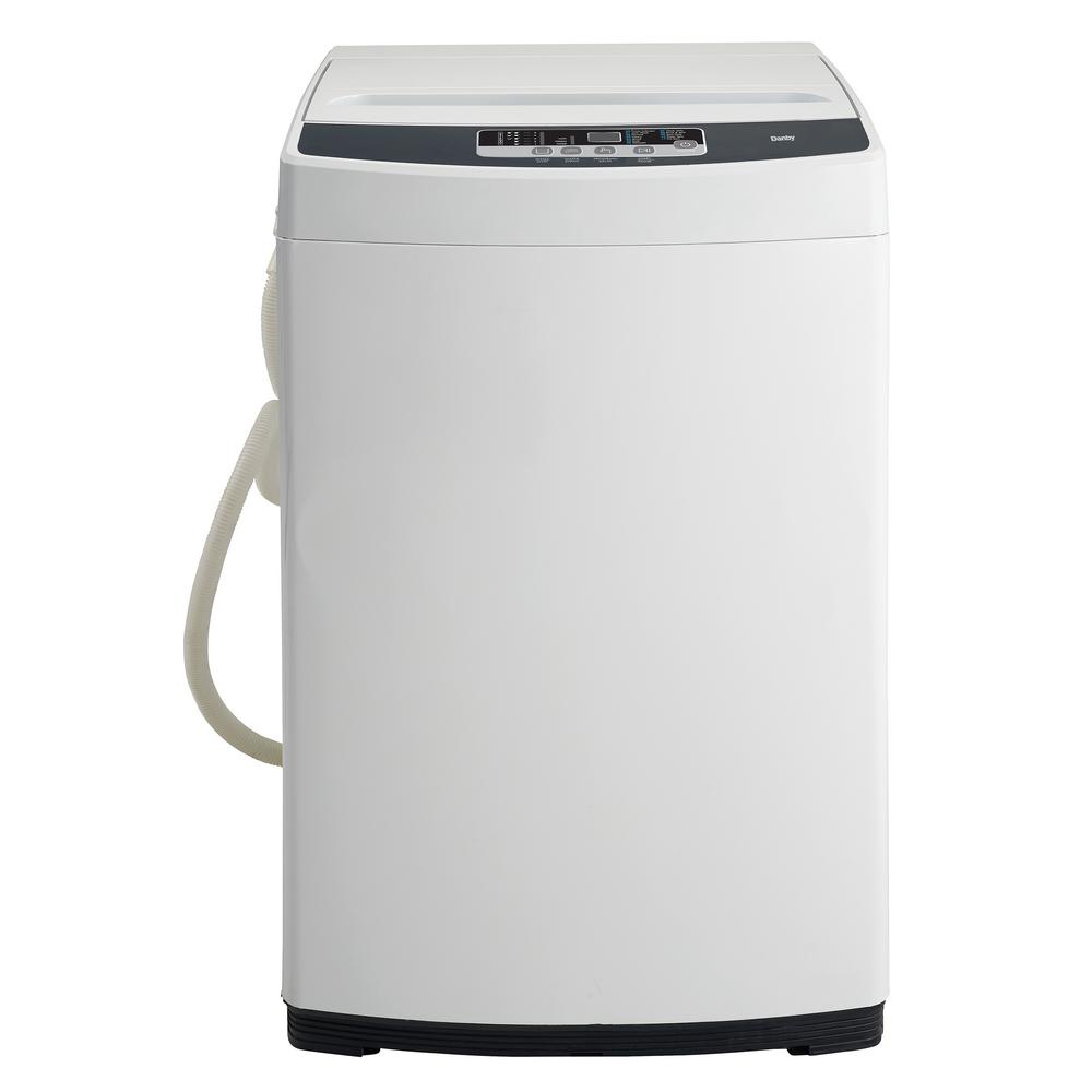 1.3 cu. ft. Compact Top Load Washer in White with Stainless