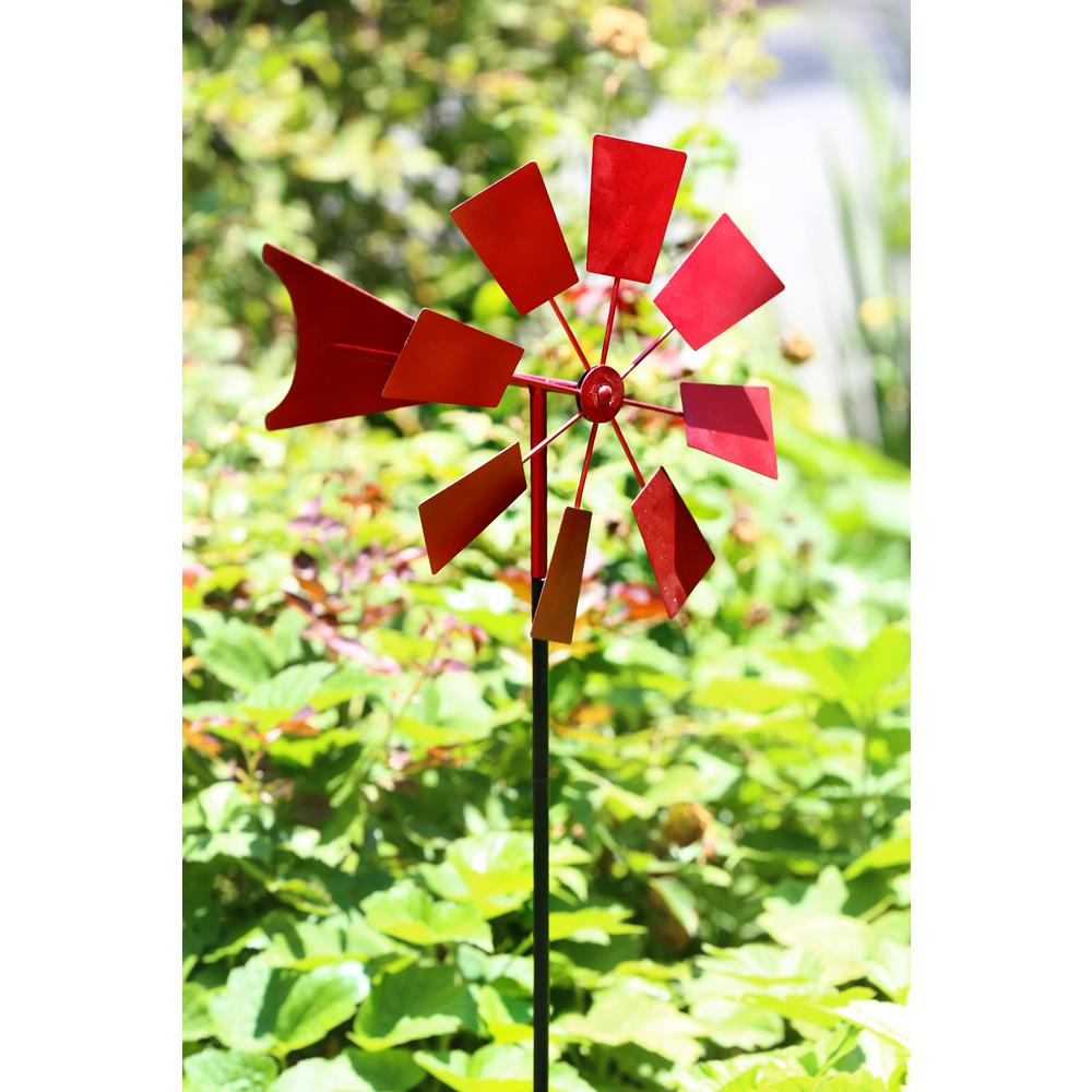 52 in. Red Metal Windmill Stake