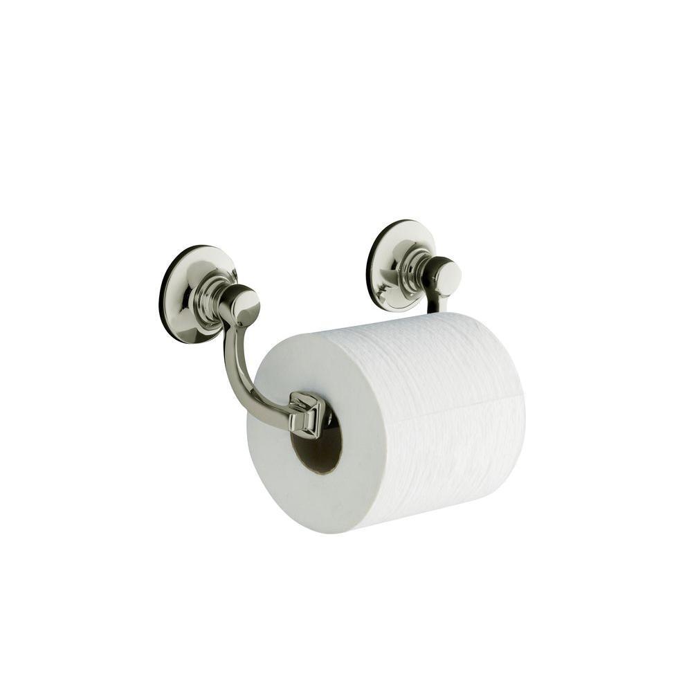 KOHLER Bancroft Wall Mount Double Post Toilet Paper Holder In Vibrant  Polished Nickel