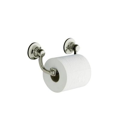 Bancroft Wall-Mount Double Post Toilet Paper Holder in Vibrant Polished Nickel