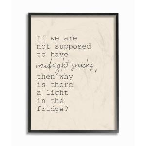 The Stupell Home Decor Fridge Lights are for Midnight Snacks Funny Wall Plaque Art 13 x 19 Multi-Color