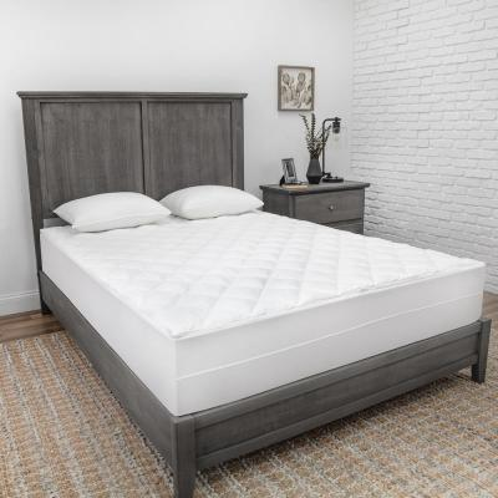 Zip-N-Clean Cotton Queen Mattress Pad Encasement