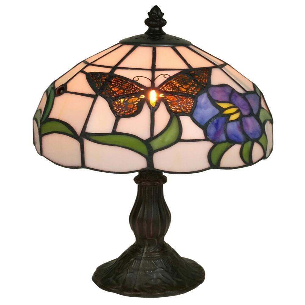 Tiffany Style Butterfly Finish Table Lamp AM210TL08   The Home Depot
