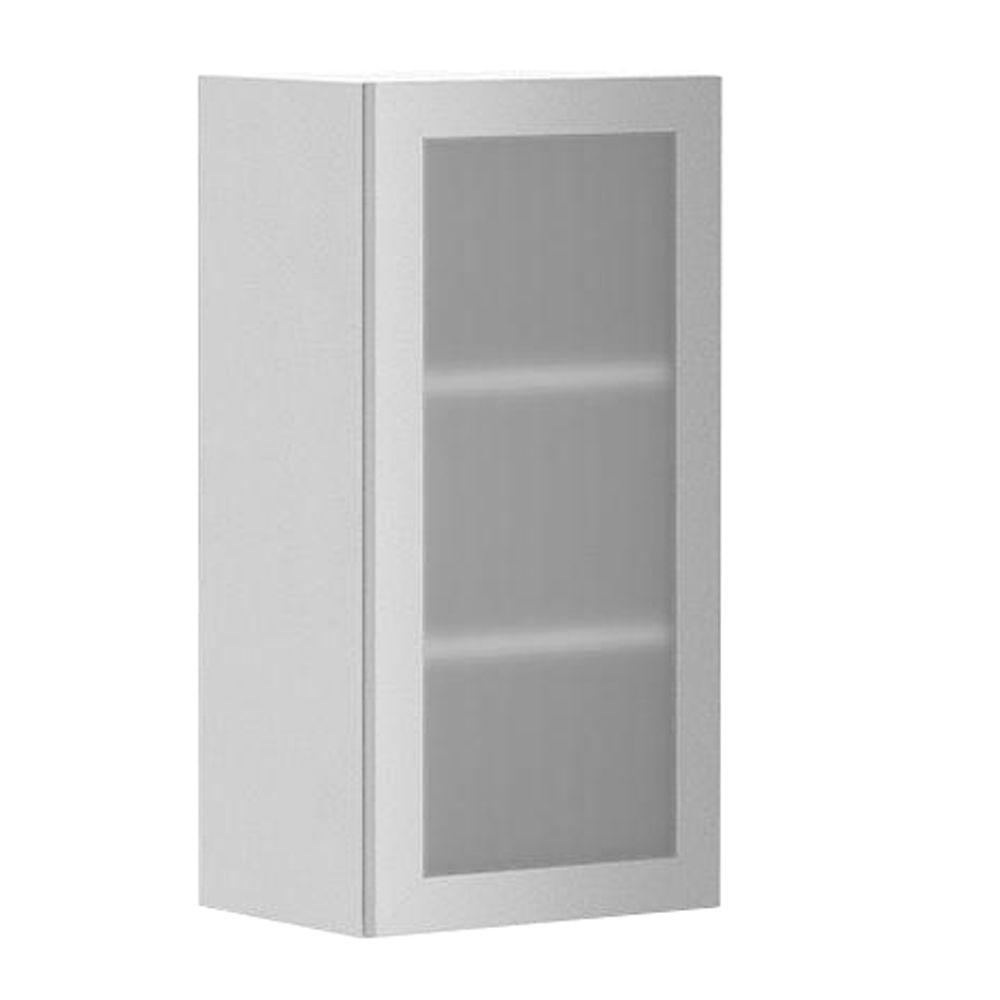 Eurostyle Ready To Emble 15x30x12 5 In Copenhagen Wall Cabinet White Melamine And