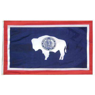 4 ft. x 6 ft. Wyoming State Flag