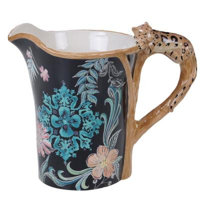 Multi-Colored 80 oz. Exotic Jungle Pitcher with 3-D Handle
