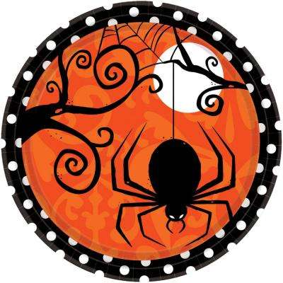 7 in. x 7 in. Halloween Frightfully Fancy Plate (3-Pack)