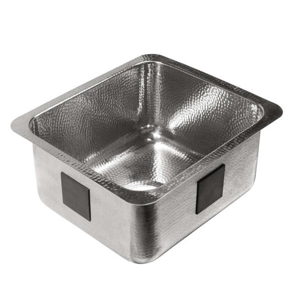 Wilson Undermount Crafted Stainless Steel 17 in. Single Bowl Bar Prep Sink in Polished Finish