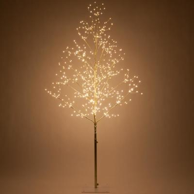 5 ft. Gold Lighted Tree with 570 Warm White LED Fairy Lights