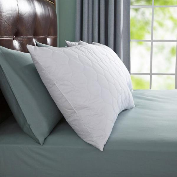 Peace nest Quilted Feather & Down Jumbo Pillow (Set of 2)