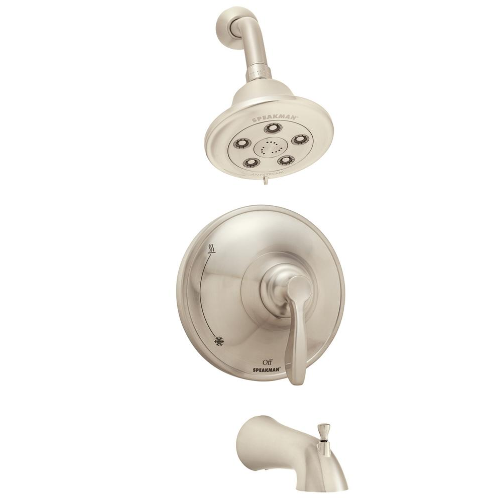 Chelsea Single-Handle 3-Spray Tub and Shower Faucet in Brushed Nickel (Valve