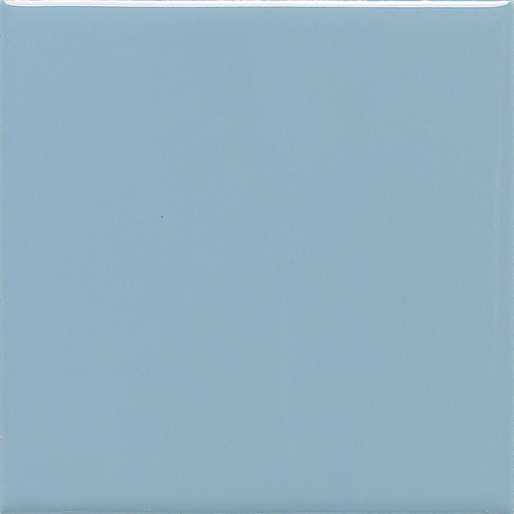 Daltile Semi-Gloss Waterfall 6 in. x 6 in. Ceramic Wall Tile (12.5 ...