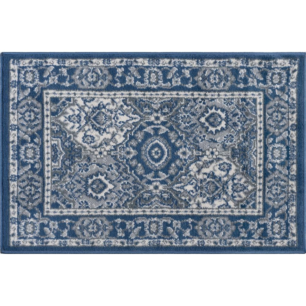 Tayse Rugs Madison Navy 2 Ft X 3 Ft Scatter Area Rug