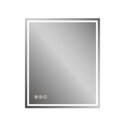 30 in.W x 36 in. H Frameless Single Wall-Mount LED Light Bathroom Vanity Mirror with Defogger and Dimmer