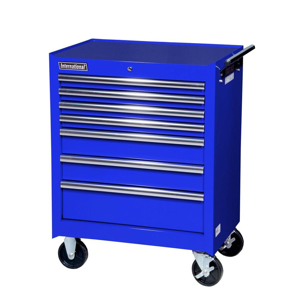 International 27 in. Tech Series 7-Drawer Cabinet, Blue-VRB-2707BU ...