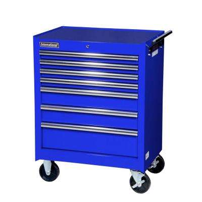 27 in. Tech Series 7-Drawer Cabinet, Blue