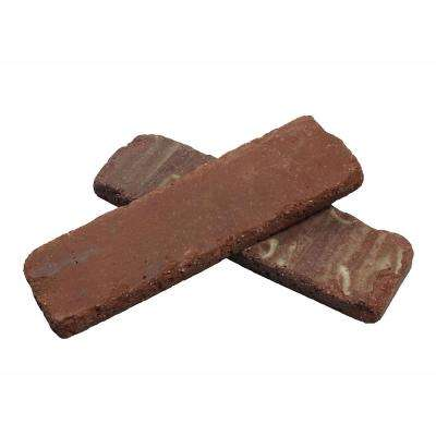 Colonial Collection Boston Mill 7.3 sq. ft. 7-5/8 in. x 2-1/4 in. x 1/2 in. Clay Thin Brick Flats (Box of 50)