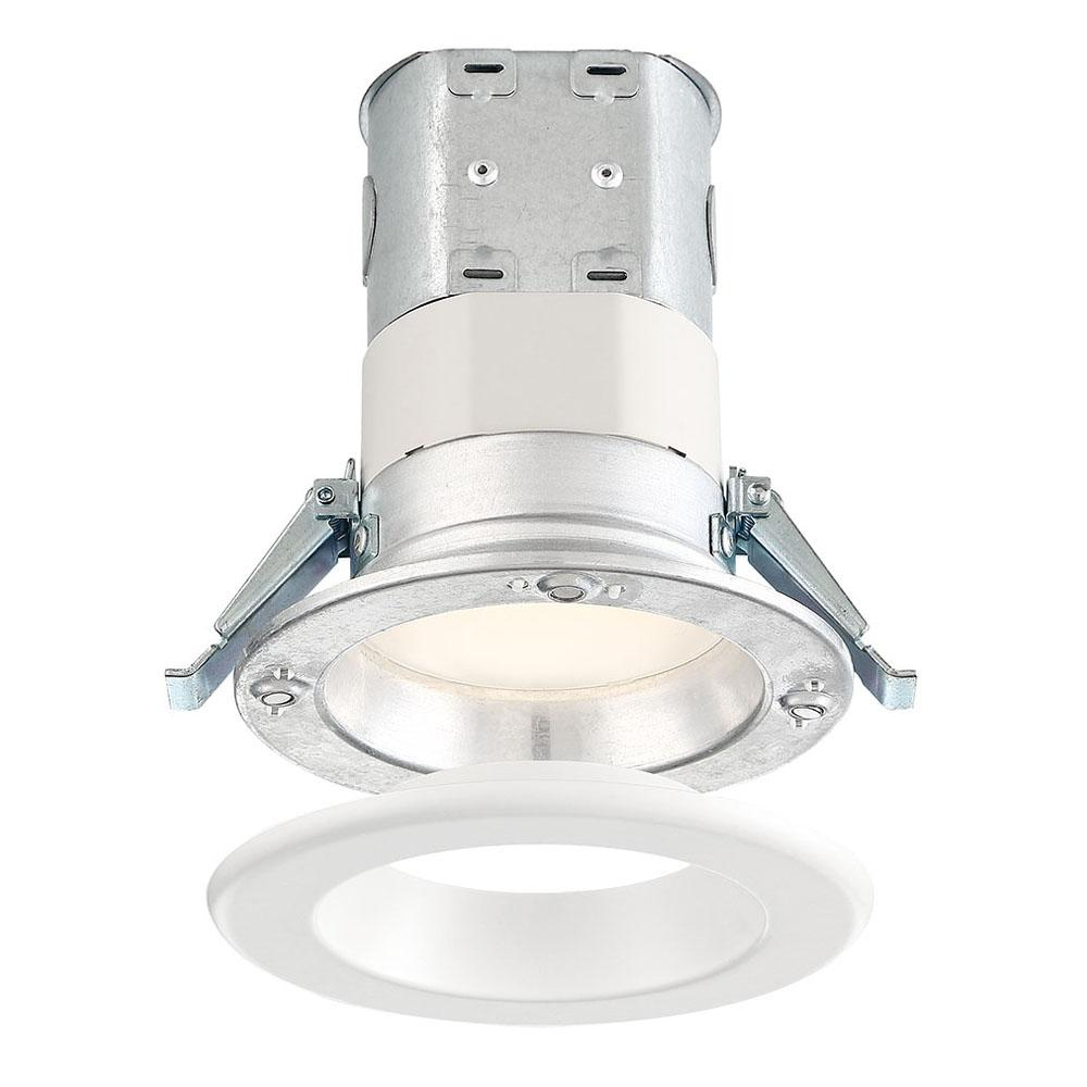 Utilitech 4 In White Integrated Led Remodel Recessed Light: EnviroLite Easy-Up 4 In. 5000K Remodel White Magnetic