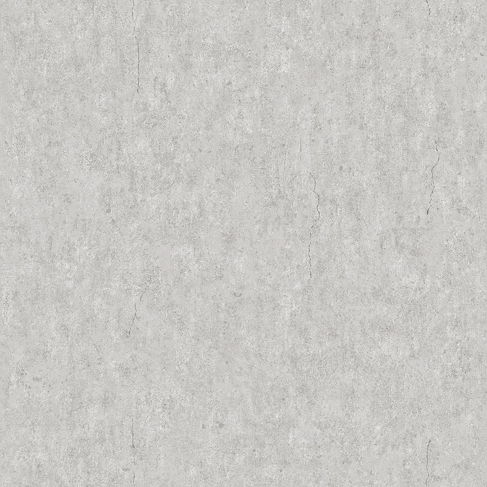 57.8 sq. ft. Raw Light Grey Faux Concrete Wallpaper
